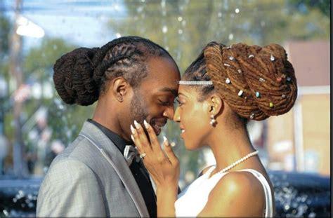 The Happy Couple On Their Wedding Day. #dreadlocks #locs