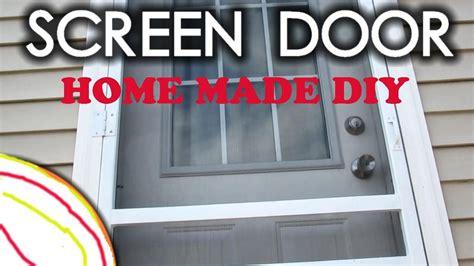 How To Make Homemade Easy Plastic Screen Door Diy Youtube