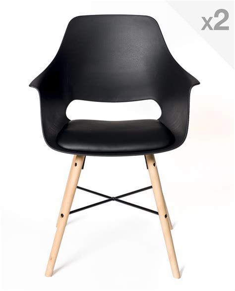coussin chaise cuisine lot de 2 chaises design scandinave avec coussin tao