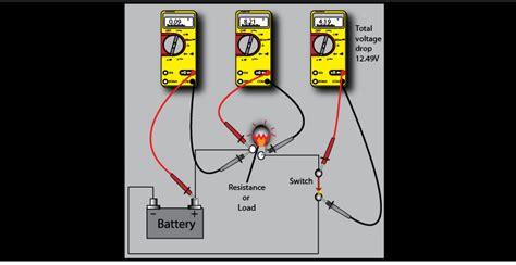 Voltage Drop Resistance Measurement