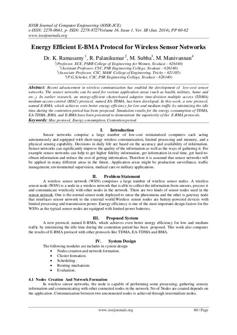 Protocol For Emailing Resumes by Energy Efficient E Bma Protocol For Wireless Sensor Networks