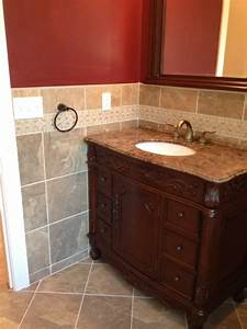 bathroom tiling project rehoboth wall and floor tile With kitchen cabinets lowes with ancient greek wall art