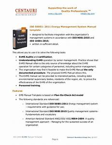Energy Management System Manual Template Description