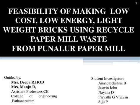 feasibilty of making low cost low energy light weight