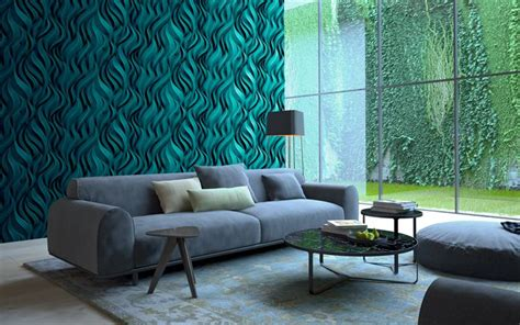 wallpapers living room  green interior