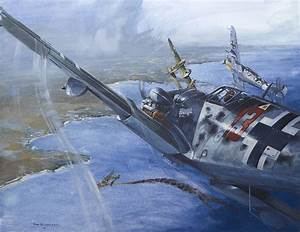 Me 109 Painting by Tony Belobrajdic
