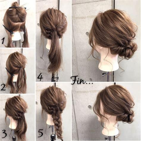 styles with braiding hair 簡単ヘアアレンジ くるりんぱ をマスターして普段も結婚式も髪おしゃれ 私たちの関心 7801