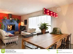 Wooden, Dining, Table, Living, Room, Background, Stock, Photo