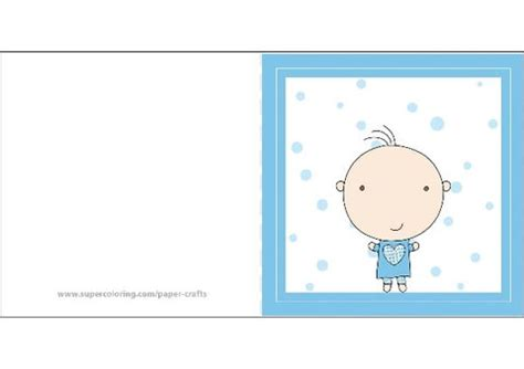 boy baby shower card  printable papercraft