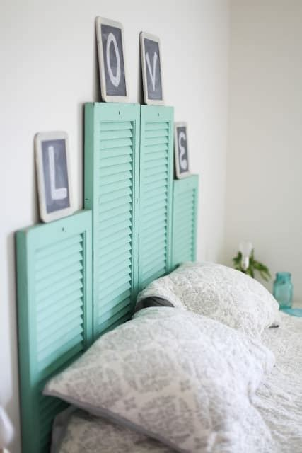Plantation Shutter Headboard by 10 Things To Make With Plantation Shutters The