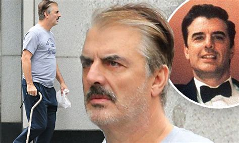 chris noth  hobbles   nyc  walking cane