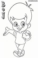 Boy Coloring Pages Print Colorings Coloringway sketch template