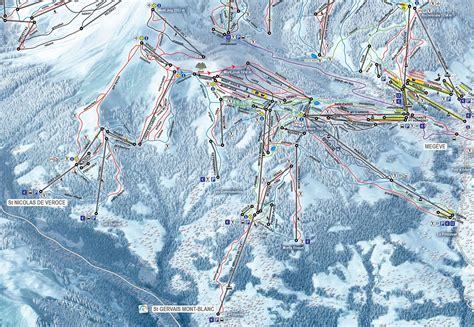 st gervais mont blanc st gervais mont blanc piste map j2ski