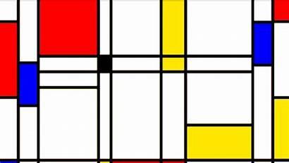 Mondrian Piet Abstract Pong Playful Shape Floss