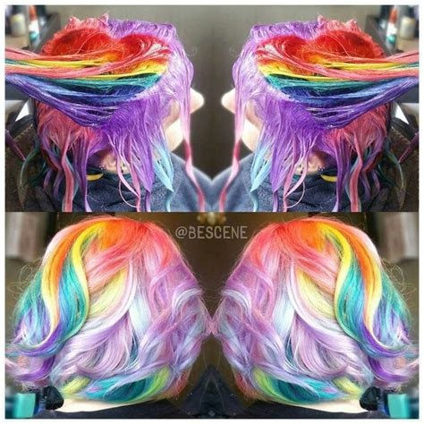 25 Best Ideas About Short Rainbow Hair On Pinterest