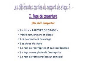 exemple rapport de stage maternelle - Document Online