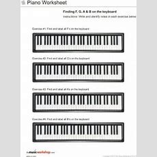 Kids Printable Piano Practice Sheet  Piano Worksheet Finding F G A And B On The Piano