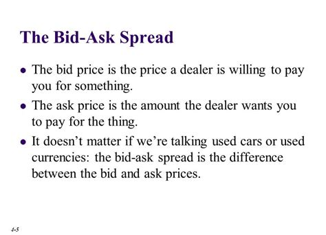 Bid And Offer Chapter Outline The Spot Market Involves Almost The