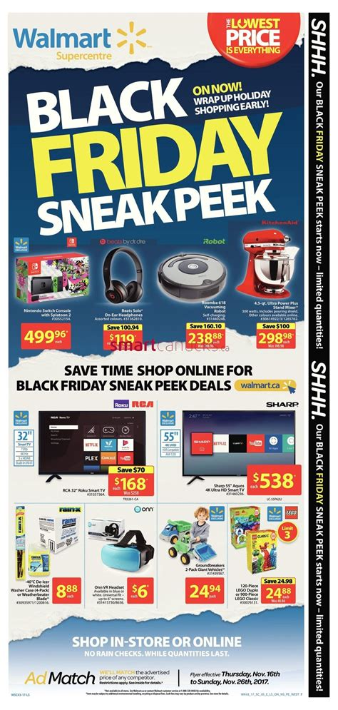 Walmart Canada Black Friday Flyer Deals 2017 Sneak Peek