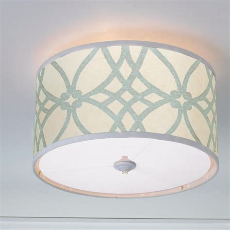 drum shade ceiling light trellis linen drum shade ceiling light available in 2