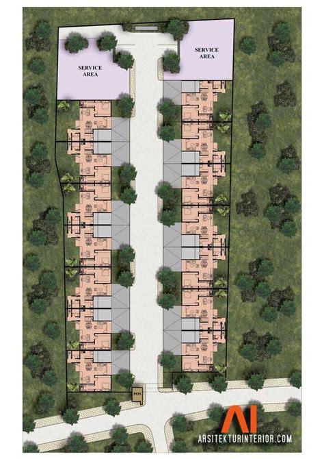 desain site plan desain gerbang  desain rumah town