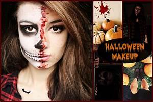 Maquillage Squelette Facile : maquillage halloween youtube ~ Dode.kayakingforconservation.com Idées de Décoration