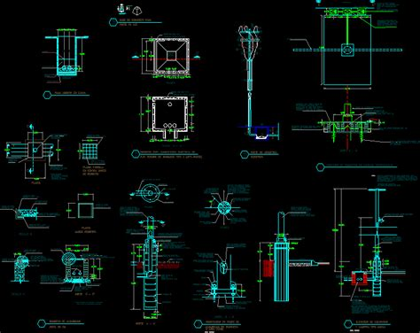 exterior electrical installation dwg detail  autocad