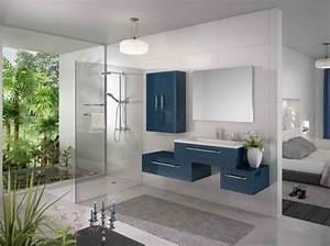 deco salle de bain gris et bleu With salle de bain gris bleu