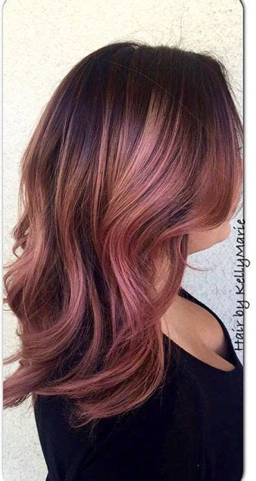stunning rose gold hair ideas metallic hair color