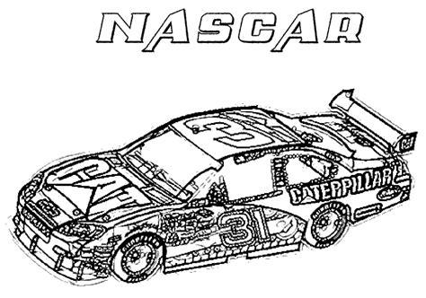 Printable nascar race car coloring page Coloringpagebook com