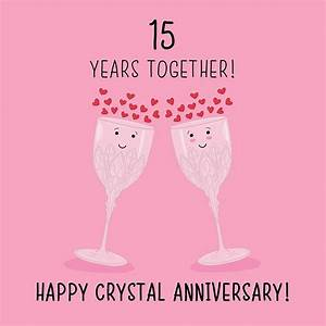 15th wedding anniversary card crystal anniversary With crystal gifts for 15th wedding anniversary
