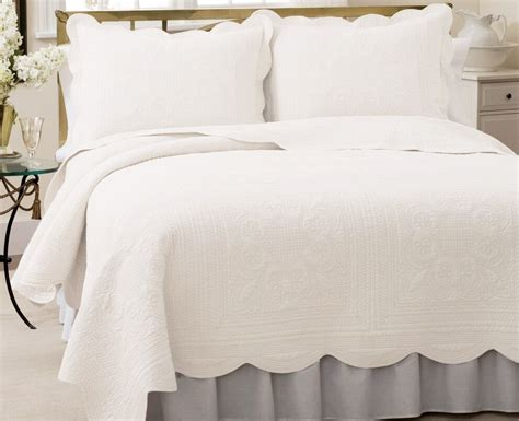 White Coverlet Set by Cottage Bright White Quilt Set