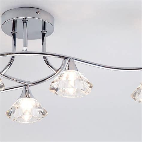 shower ceiling light semi flush ceiling light edvin bathroom 6 light chrome