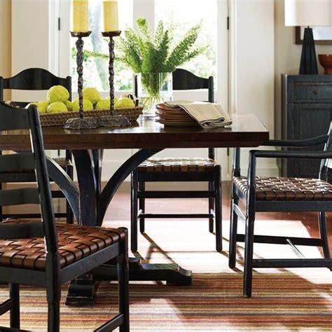 stanley furniture artisan pedestal dining table in ebony