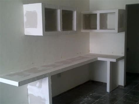 mueble de durock ideas panel de yeso en  cocina