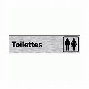Plaque Alu Brossé : plaque de porte aluminium bross pictogramme toilettes ~ Edinachiropracticcenter.com Idées de Décoration