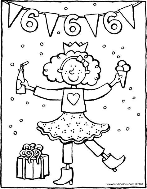 Kleurplaten Printen Verjaardag by Kleurplaten Meisjes 4 Jaar