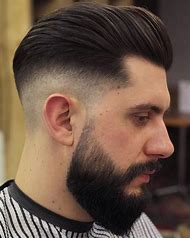 Men Low Fade Haircut with Beard