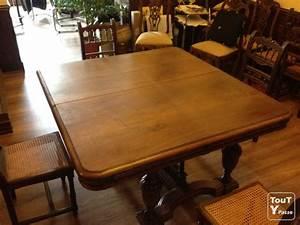 ancienne table de salle a manger escamotable en chene With salle À manger contemporaineavec table de salle a manger ancienne