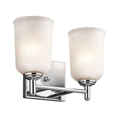 chrome bathroom vanity light shop kichler lighting 2 light shailene chrome bathroom