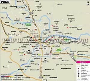 Pune Map Maharashtra City Information And Facts