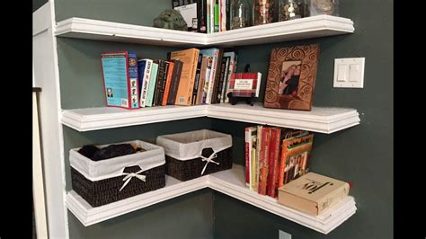 diy floating corner shelves youtube