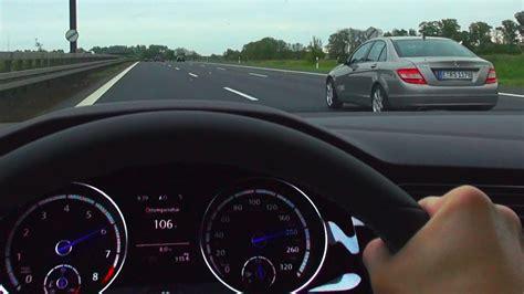 vw golf   onboard acceleration german  speed limit