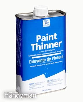 Mineral Spirits Vs Paint Thinner  The Family Handyman