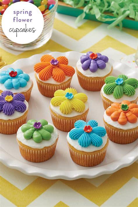 flower power cupcakes spring easter