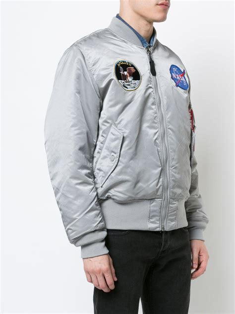 lyst alpha industries reversible nasa bomber jacket