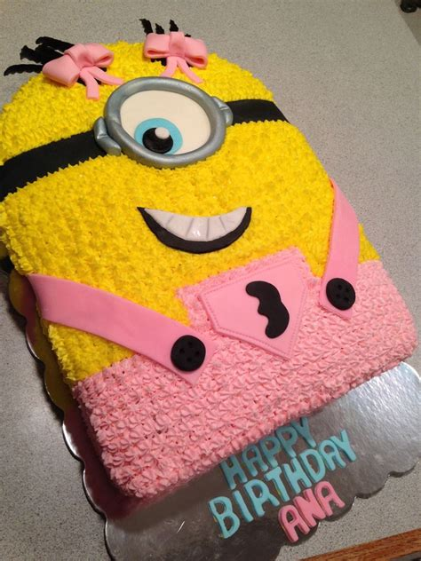 The minion cake pops are definitely my favorite out of the ones you made though! Girly Minion Cake - CakeCentral.com