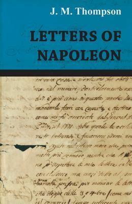 letters  napoleon  jm thompson