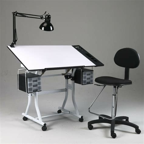 Artist Light Table by Drawing Hobby Craft Table Desk W Drawers