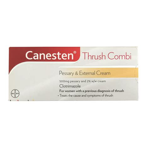 Canesten Clotrimazole Thrush Pessary And External Cream